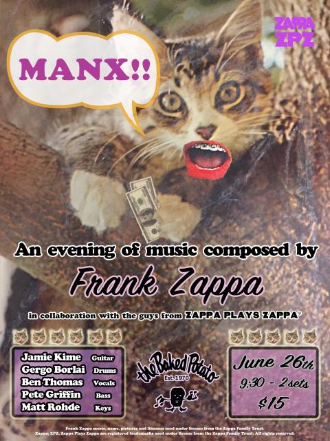 MANX!! An evening of music composed by Frank Zappa